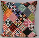 BRAND NEW CUSHION COVERS IKEA MULTI COLOURED RETRO 60s STYLE FABRIC