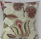 CUSHION COVERS PLUM FAWN BROWN BURGUNDY BEIGE FLOWER LEAVES PILLOW COVERS