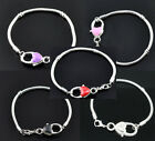 Heart Lobster Clasp Snake Chain Bracelet - for charm beads
