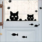 Cute~!! HUNGRY CATS Wall Decor Art Vinyl Sticker Decal VG-009