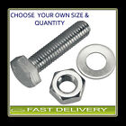 M10 S/Steel Set screw Nut Bolt Washer Set FREE P&P