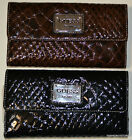 Guess Founder's Tote Trifold Checkbook Wallet Cartera Porte-monnaie Бумажник