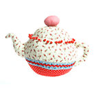 New Shabby Chic Tea pot  Door Stop Weighed Tapestry Kitchen Gift