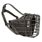 Winter Agitation Dog Muzzle Rubber Covered Wire Basket Fully Padded with Felt