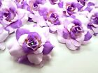 """24X Two-Tone Color Roses Artificial Silk Flower Head Lot 1.75"""" for clip Wedding"""