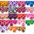 """(24pcs) Two-Tone Silk Roses 1.75"""" - Artificial Flower Heads - Fabric - Wedding"""