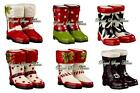 461223 Mini Wellies Rain Boot Christmas Winter Magnetic Salt Pepper Shakers