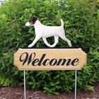 Jack Russell Terrier Welcome Sign Stake.Home,Yard Garden Dog Wood Products-Gifts