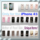◆ For Apple iPhone 4 Mother of Pearl ★ Phone skin Unique Items Choose one◆Korea