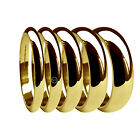 2mm 3mm 4mm 5mm 6mm 750 UK HM 18ct Yellow Heavy D Shaped Wedding Band Rings H-Z1
