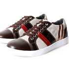 Sun Mens Lace Up Sneakers Shoes Brown