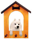 Samoyed Dog House Leash Holder. In Home Wall Decor Wood Products & Dog Gifts.