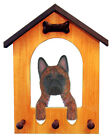 Akita Dog House Leash Holder. In Home Wall Decor Wood Products & Dog Breed Gifts