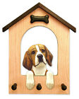 Beagle Dog House Leash Holder.In Home Wall Decor Wood Products & Dog Breed Gifts
