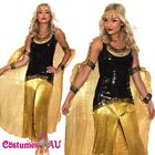 Ladies Cleopatra Roman Egyptian Toga Robe Greek Goddess Fancy Dress Costume