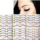 10 Pairs Makeup Natural Lower Bottom Black False Eyelashes Clear Band 6 style