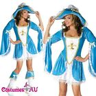 Ladies Caribbean Pirate Velvet Costume Wehch Swashbuckler Fancy Dress Outfit Hat