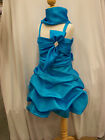 new girl azure true BLUE pageant birthday graduation party dress 4 years old