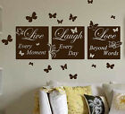 LIVE LAUGH LOVE wall quote   MURAL WALL  QUOTE     XXXL wall art  N49