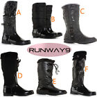 Womens Wellingtons Snow Boots Ladies Fur Lined Winter Knee High Size 3 4 5 6 7 8