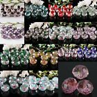 Mixed Lots Faceted Murano Lampwork Glass Flower Rose Spacer Loose Beads Findings