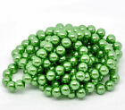 50 x Round Glass Pearl Beads 10mm - Green or Brown