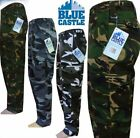 New Mens Cargo Trousers Army Combat Military Camouflage Castle Work  Casual Tuff