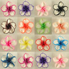 50 PCS Pick Color Polymer Clay Fimo White Petals Plumeria Flower Beads 20mm