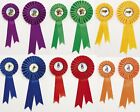 Horse/Equestrian Trophies - Rosettes 2 sizes 6 different colours