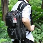 Genuine Leather luggage Bags Travel Hiking Backpacks Tote Messenger Briefcases