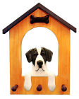 Great Dane Natural Dog House Leash Holder. In Home Wall Decor Products & Gifts.