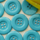 Teal 4 Holes Plastic Buttons Sewing Cardmaking Scrapbooking 17mm,27mm,33mm