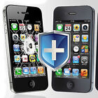 Apple iPhone 4/4S BULLETPROOF GLASS Screen Protector COLOR SKIN Cover Shield