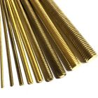 100mm Long Brass Threaded Bar Rod Studding - M2 M3 M4 M5 M6 M8 M10 M12