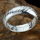 LOTR Solid sterling silver,925 One Ring of Power Lord of the Rings Film Movie
