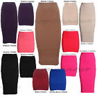 NEW LADIES WOMENS BODYCON PANEL STRETCH RIBBED BANDAGE PARTY  SKIRTS SIZE 8-14