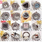 11 Style Creative Fashion Steel Quartz Finger Stretch Ring Watch Multi Style