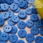 14mm Blue Flat Round Buttons Sewing Scrapbooking Cardmaking Craft