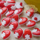 Red Assorted Hearflower 15mm Plastic Buttons Sewing Scrapbooking HFB
