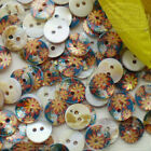 Wide Mum 11mm Mother Of Shell Buttons Sewing Scrapbooking Beads SCP639
