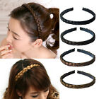 Woman's Girls Hairpiece Headband Hair Belt Plait Hair Extensions 6 Colors KP09