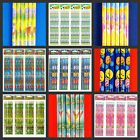 12 THEMED PENCILS **PARTY BAGS**PARTY PRIZES*REWARDS*PARTY LOOT*FREE POSTAGE !!!