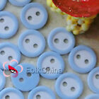 Light Blue 2 Holes 11mm Plastic Buttons Sewing Craft Scrapbooking PCB-B07