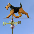 Welsh Terrier Wooden Hand Carved Weathervane. Home,Yard,Barn-Roof Dog Products.