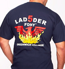"FDNY Ladder 5 Tee ""The Pheonix"" Greenwich (Officially Licensed) - NYC Firestore"