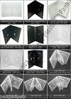 CD DVD 14mm 7mm Clear Black Blu Ray Single Double Cases with Sleeves