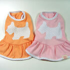 Dog&Cat Clothes Skirts Doggie Printed Dresses_EE11
