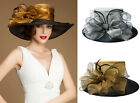 Glitter Womens Trendy Dress Wedding Church Kentucky Derby Occasional Hat A045