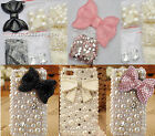 3D Bling Crystal off-white Gem Bow knot DIY cell Phone iPhone Case -Deco Den Kit
