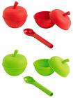 Mastrad 3-piece Microwave Silicone Fruit Cooker & Corer Set-2 cookers and Corer